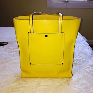 Zara Large Rectangular Yellow Tote