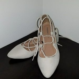Madden Girl Shoes - (NWOT) Madden Girl lace up ballet flats