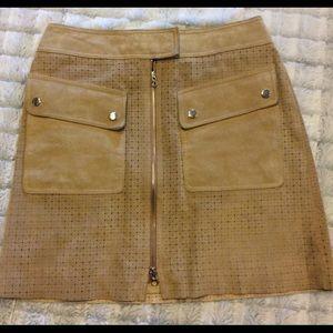 Nordstrom Dresses & Skirts - Margaret Godfrey suede laser cut skirt