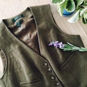 Lauren Ralph Lauren Jackets & Blazers - Ralph Lauren Tweed Vest