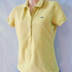 Lacoste Tops - Lacoste yellow polo shirt 38 medium