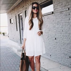Nordstrom / Hinge white peasant dress