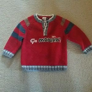 Ikks Other - IKKS red wool baby sweater size 18mo/80