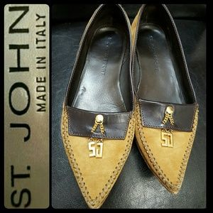 St. John Shoes - St.  John Italy Suede Leather Flats