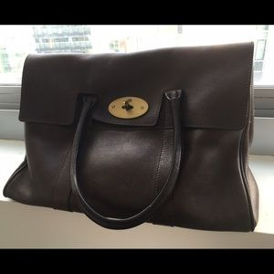 Mulberry Handbags - Mulberry Bayswater Tote Bag Chocolate Leather