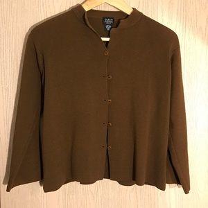 Eileen Fisher Petite Wool Sweater SZ Petite Medium