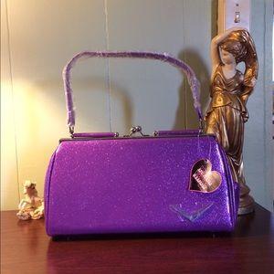 Purple Sparkle Lux De Ville Getaway Pinup Purse