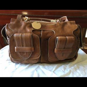 Chloe Handbags - Chloé Saskia Tatou Brown Leather Satchel Bag