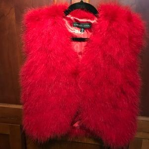 Adrienne Landau Jackets & Blazers - Adrienne Landau Marabou Feather Vest