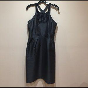 Gray taffeta sick dress from Banana Republic