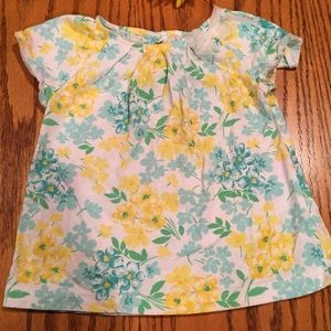 Carter's Other - Carter's Yellow & Aqua Floral Top. Size 2T