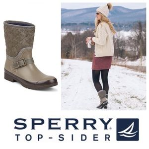 LIKE NEW!  Sperry TopSider Walker grey nylon boots