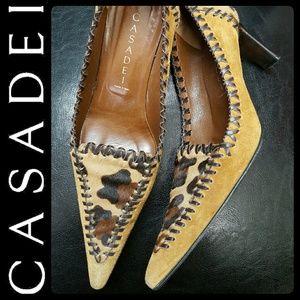 Casadei Shoes - Casadei Italy Suede Leather Pumps