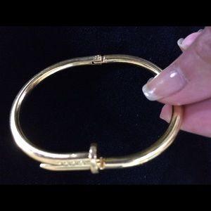 Jewelry - Kardashian Style Gold Nail Cuff Bangle Bracelet 7.