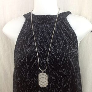 1822 Denim Jewelry - Vince Camuto Silvertone Chain Necklace With Stones