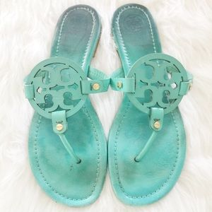 Tory Burch Shoes - Tory Burch Miller Sandals in Turquoise