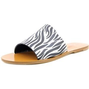Emozioni Black & White Slip On Sandals