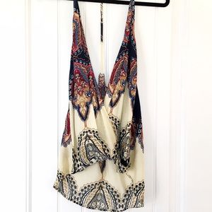 Tops - SOLD IN BUNDLE Low cut open back boho tank