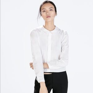 Used Zara peter pan collar blouse