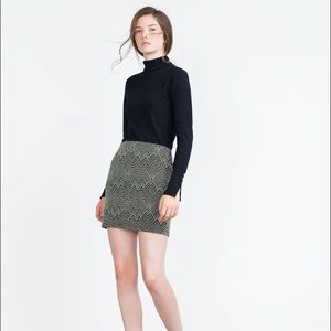 ZARA printed mini skirt