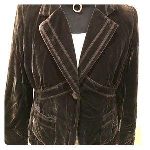Axcess Jackets & Blazers - 🆕🍾Access by Liz Claiborne velvet Brown Blazer