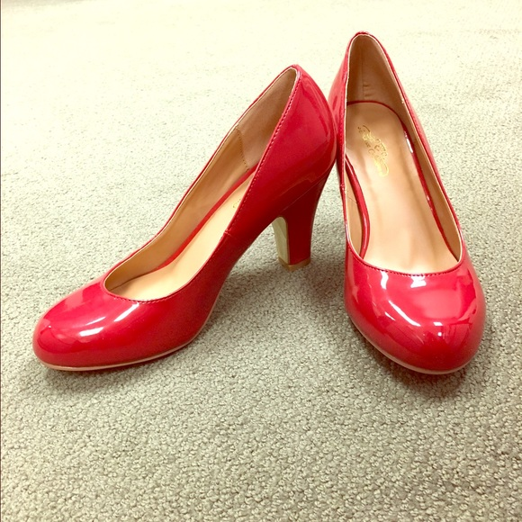 Journee Collection Shoes - Sassy Red Pumps