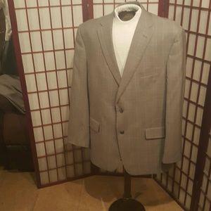 Men's grey plaid Jos A. Bank suit