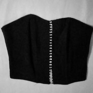 Black with rhinestones bustier sz. Small