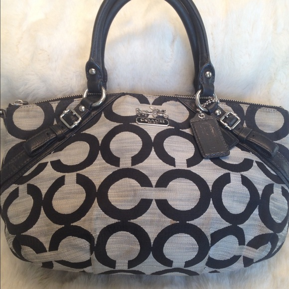 b970b4d254 Coach Handbags - LARGE COACH Op Art Canvas Tote