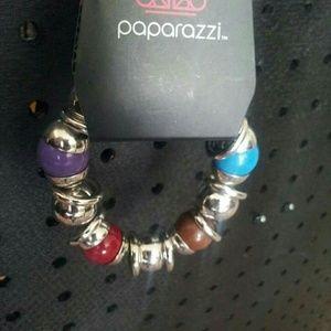 NWT Silver bead stretch bracelet