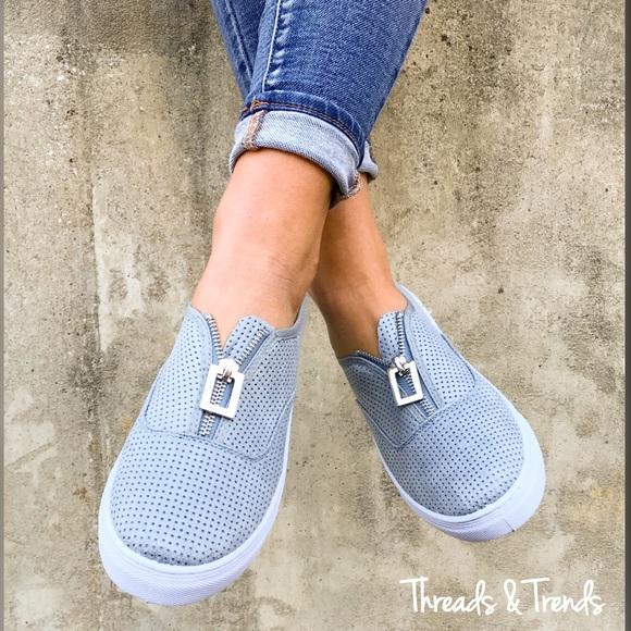 threads trends last one sale serenity blue slip on