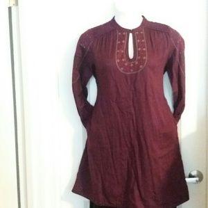 Wrap Dresses & Skirts - Eggplant Colored Tunic Dress
