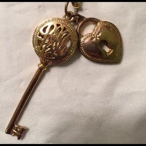 Lilly Pulitzer Gold Lock & Key Necklace
