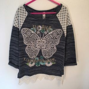 Beautees Other - Beautees 3/4 Sleeve Top