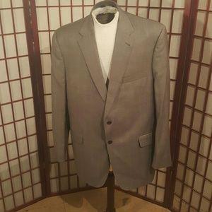 Men's  light grey plaid  Jos A. Bank  suit