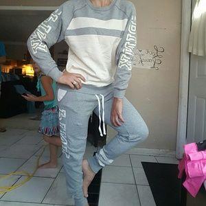 pink Sweaters - GUC, vs pink boyfriend set