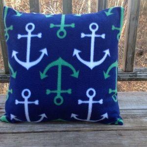 Other - Set of two nautical fleece pillows.