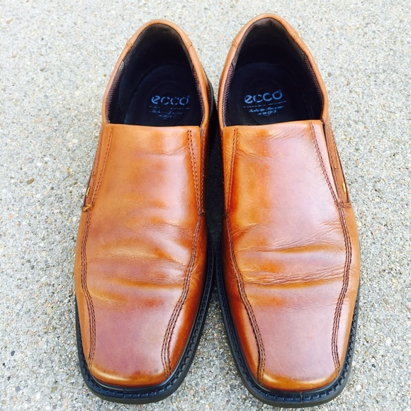 a777825b4a12b Ecco Shoes | Mens Brown Leather Slip On Loafer 42 | Poshmark