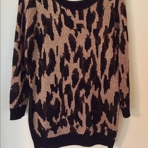 Urban Outfitters Cheetah Print Sweater