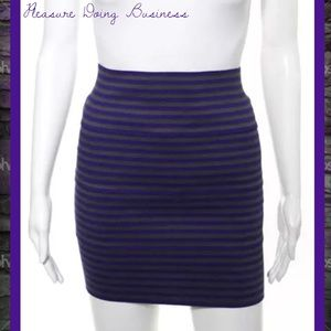 Pleasure Doing Business Dresses & Skirts - PLEASURE DOING BUSINESS Purple/Gray Banded Skirt