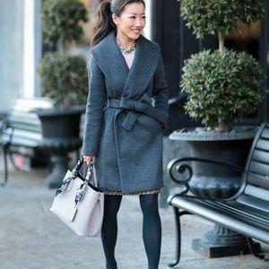 Ann Taylor doublefaced wrap coat