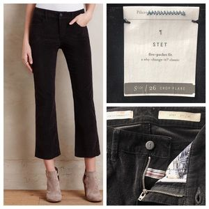 Anthropologie Pants - PILCRO Stet Crop Flare Black Corduroy Jeans