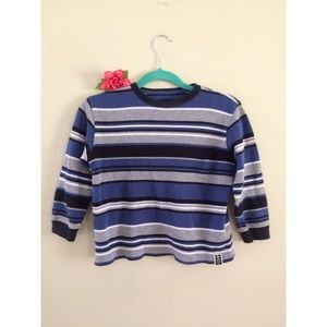 90's Ribbed Striped Crop Top 