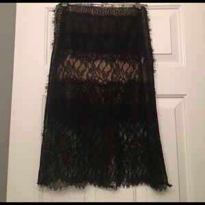 Black lace midi skirt -Max Azria