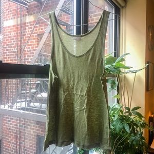 Dries Van Noten Tops - Dries Van Noten mossy green BF tank