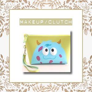 Cartoon inspired Makeup bag/ clutch