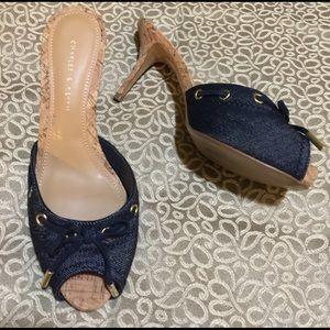 Denim sandals size 37/7