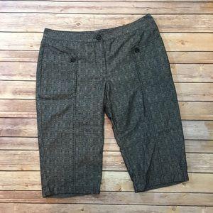 Derek Lam Pants - Derek Lam Gray Black Bermuda Shorts