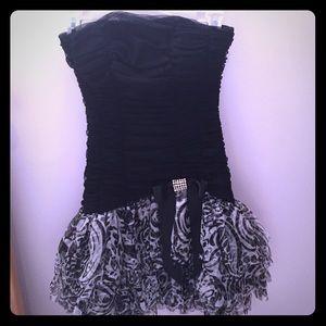 Blondie Nites Dresses & Skirts - Black Ruffle Homecoming Dress