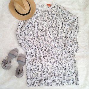 Joe Fresh Dresses & Skirts - ! Joe Fresh Garden Floral Long Sleeve Shift Dress